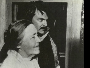 "Рабочие моменты в съемке фильма ""Зеркало"". Мария Вишнякова, Андрей Тарковский."
