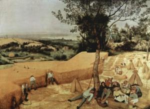 """Питер Брейгель Старший. Цикл """"Двенадцать месяцев"""". 1565. """"Уборка зерна"""". Цитируется """"Потерянный рай"""" Мильтона..."""