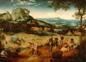 """Питер Брейгель Старший. Цикл """"Двенадцать месяцев"""". 1565. """"Сенокос"""". Цитируется """"Потерянный рай"""" Мильтона..."""