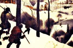 """В СОЗЕРЦАНИИ КАРТИНЫ БРЕЙГЕЛЯ """"ОХОТНИКИ НА СНЕГУ""""... Цитируется """"Потерянный рай"""" Мильтона..."""