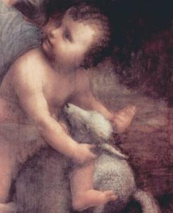 "ЛЕОНАРДО ДА ВИНЧИ. ""Анна, Мария и младенец Иисус"". Около 1510 года. Лувр. Париж."