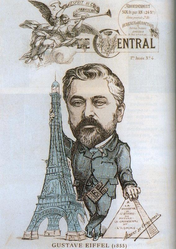 Алекса́ндр Гюста́в Эйфе́ль (фр. Gustave Eiffel; 15 декабря 1832, Дижон — 28 декабря 1923, Париж) — французский инженер, специалист по проектированию стальных конструкций.