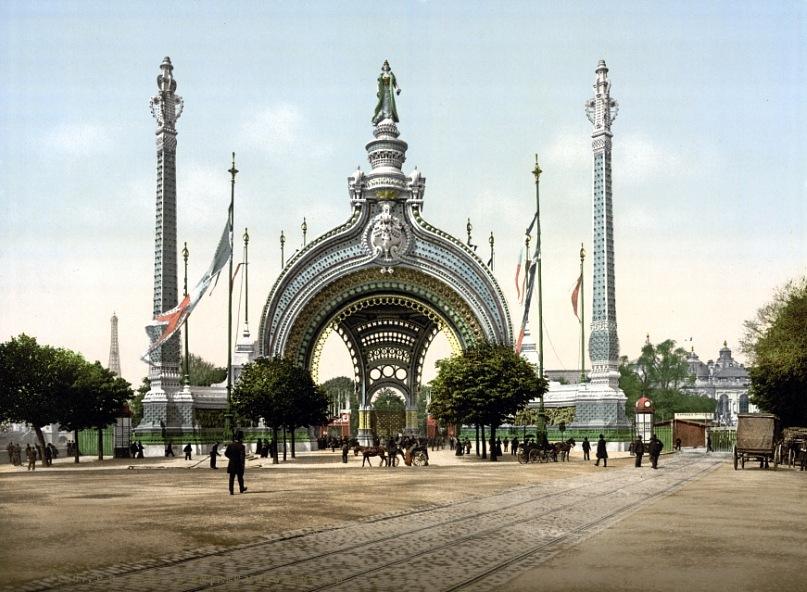 Франция, Париж. Главный вход на Всемирную выставку. 1900 год