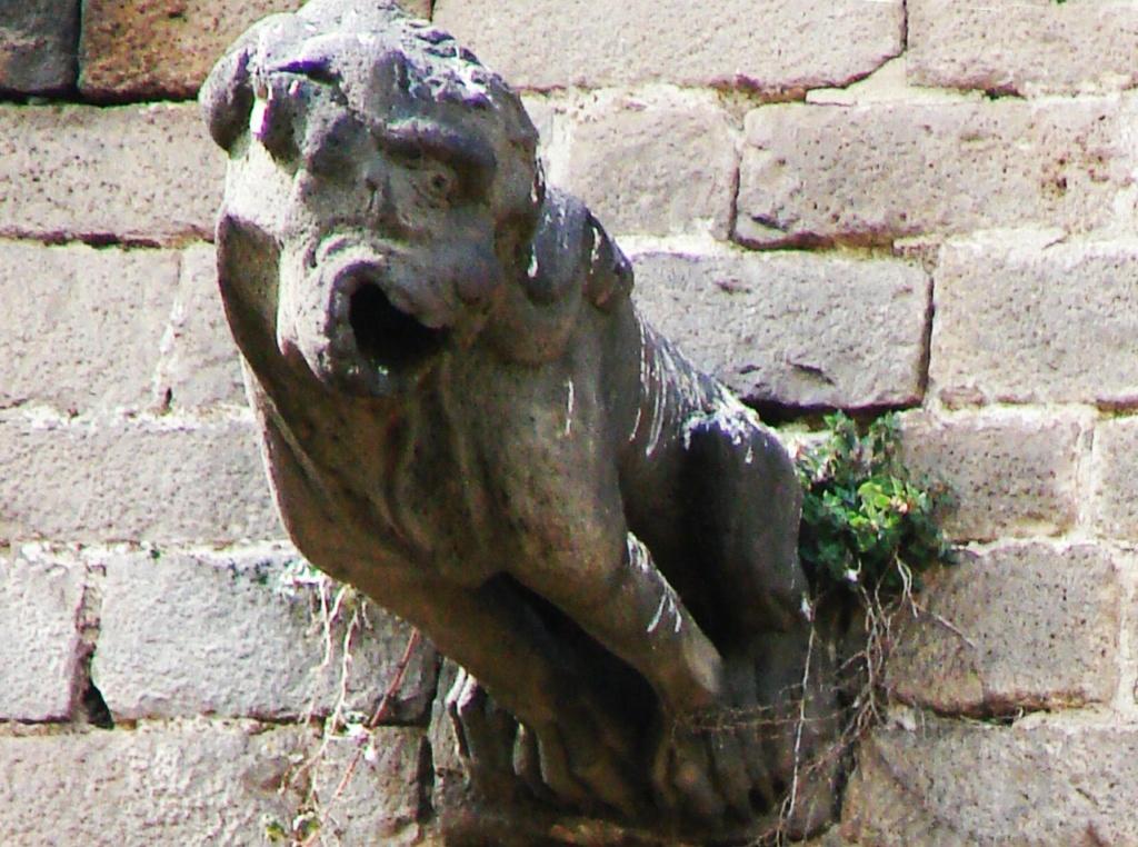 """Горгульи Кафедрального собора в Барселоне. XV век. Образец """"окаменелой нечисти"""", не определимой породы. Искать сородичей можно до бесконечности, а потому - не начинаю."""