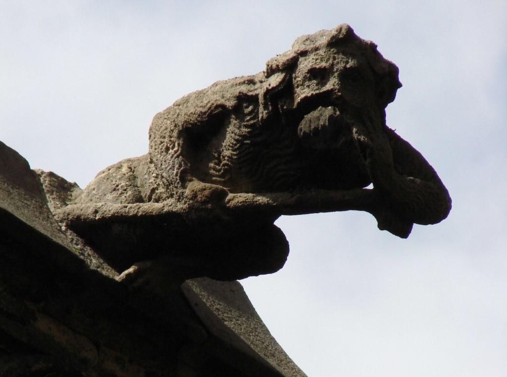 Горгульи Кафедрального собора в Барселоне. XV век. Нечто человекообразное. Что именно, неведомо...