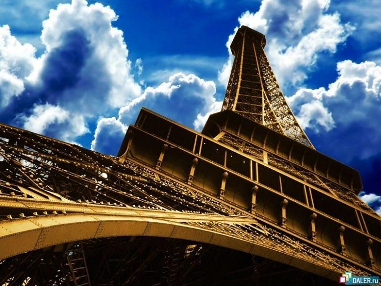 Э́йфелева ба́шня. 1887 - 1889. Высота — 324 м. Вес металлической конструкции — 7 300 тонн (полный вес 10 100 тонн). Сегодня из этого металла можно было бы возвести сразу три башни. Колебания башни во время бурь не превышают 15 см.