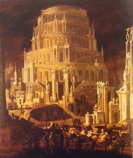 """Монсу Дезидерио. """"Вавилонская башня"""". 1630"""
