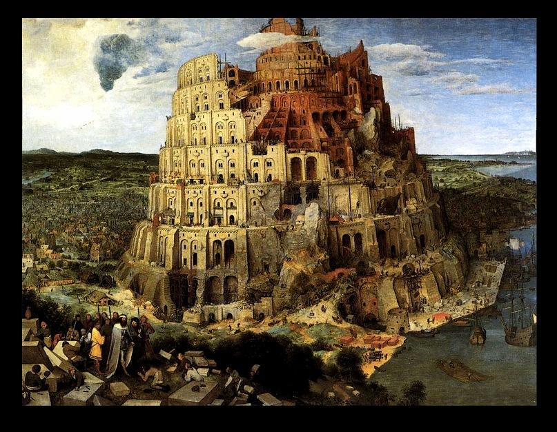 """Питер Брейгель Старший. """"Большая"""" Вавилонская Башня (Вторая). 1563 г. Дерево, масло. 114 х 155 см. Музей истории искусств, Вена"""