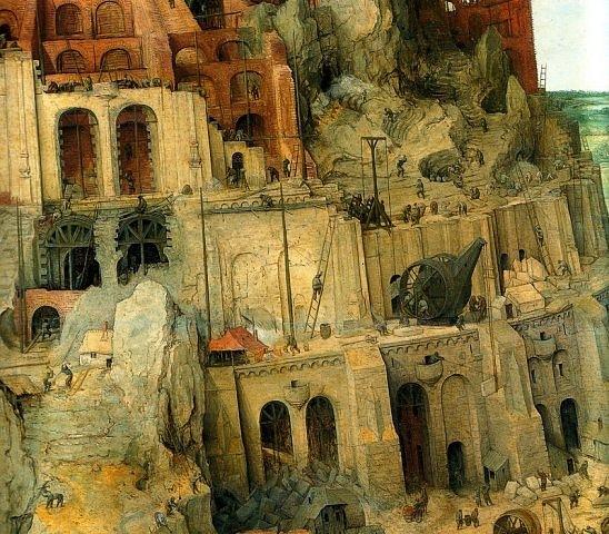 """Питер Брейгель Старший. """"Большая"""" Вавилонская Башня. 1563 г."""