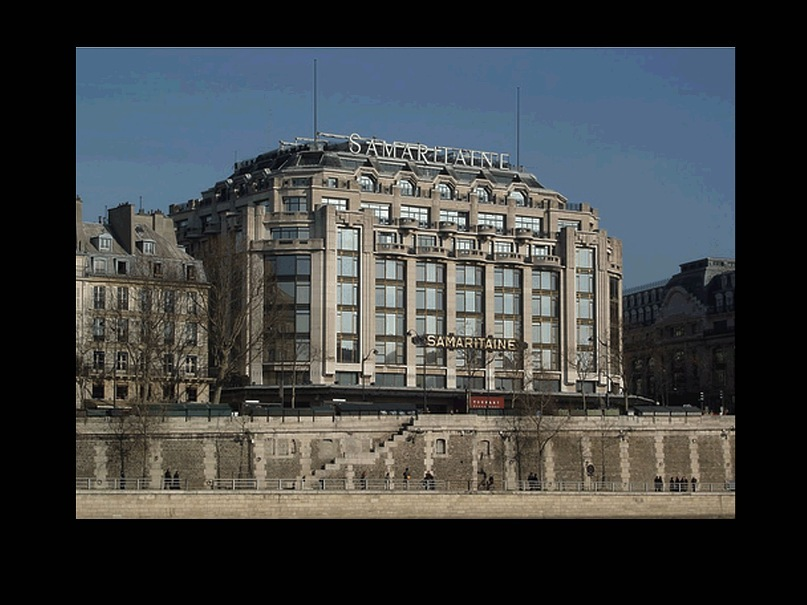 Магазин Самаритэн - La Samaritaine. Первый в Европе магазин самообслуживания и один из самых крупных и известных парижских универсальных магазинов. Основан в 1869 году.