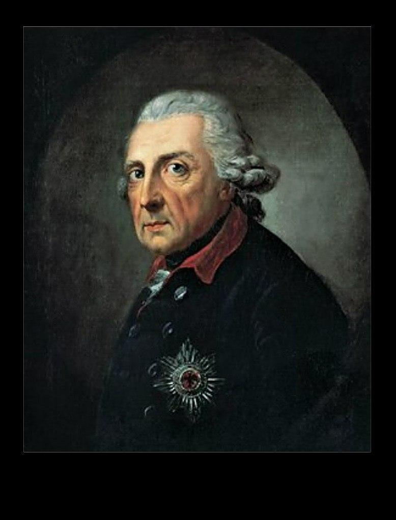 Портрет Фридриха II Великого. Антон Графф. 1781 год.. Фридрих II Великий - третий король Пруссии, самый почитаемый. Правил с 31 мая 1740 года по 17 августа 1786 года.
