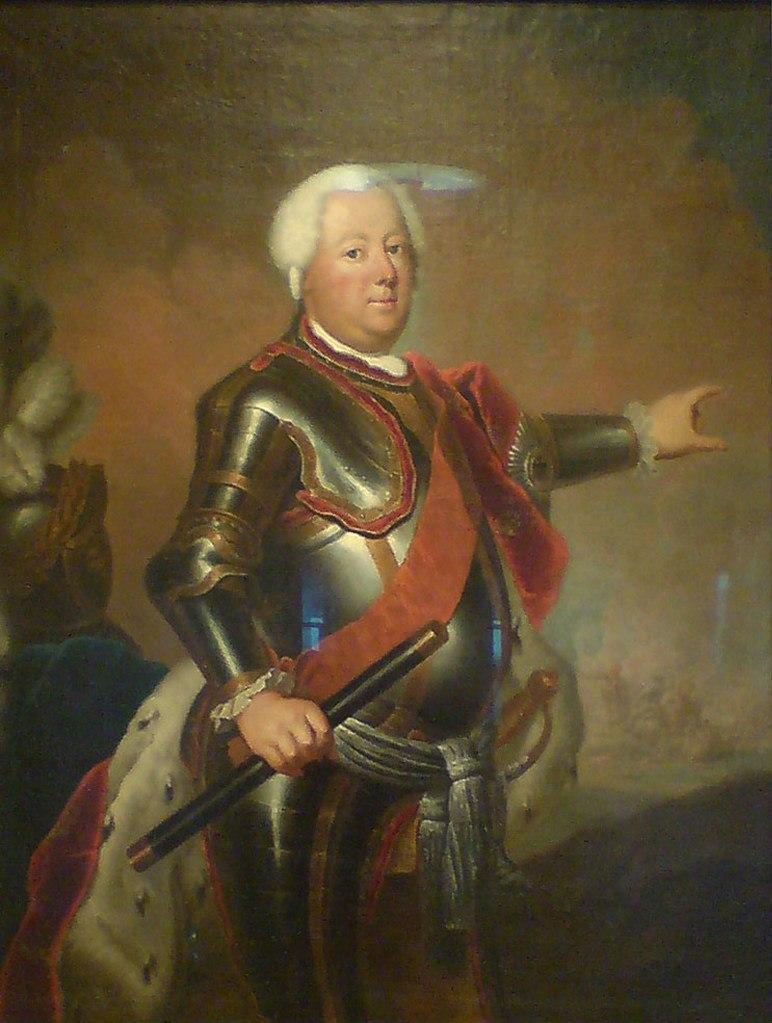 """ГЛАВНЫЙ ГЕРОЙ РАССКАЗА (источник сведений книга В. Фенора). Антуан Пэн. Портрет Фридриха Вильгельма I. 1733 2-й король Пруссии (""""король-солдат""""), правивший с 1713 по 1740 г."""