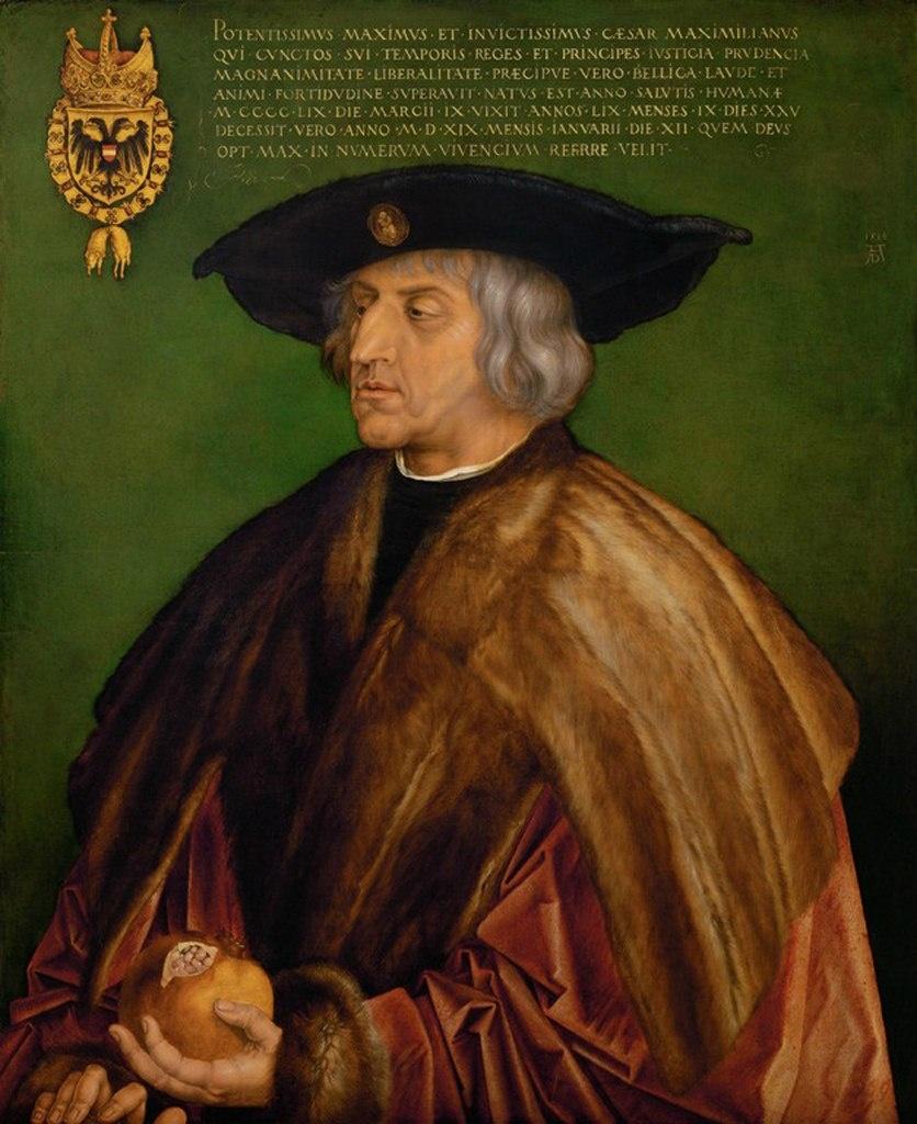 Альбрехт Дюрер. Портрет Императора Священной Римской империи Максимилиана I. 1519 год.