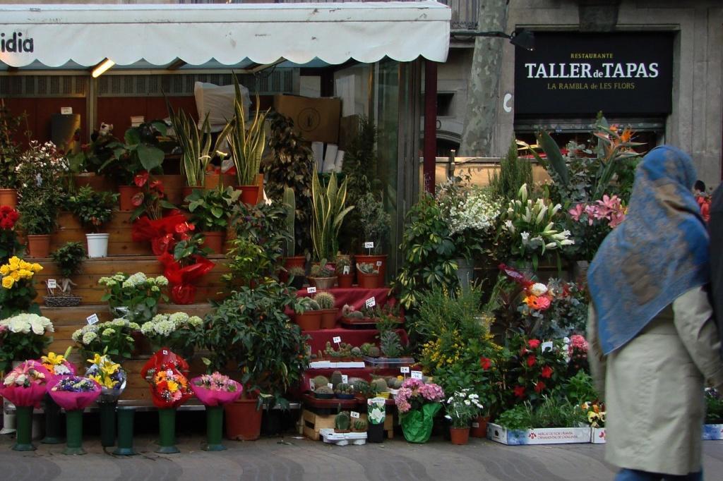 Барселона. Старый город - так называемый, Греческий квартал. Март месяц 2014 года.