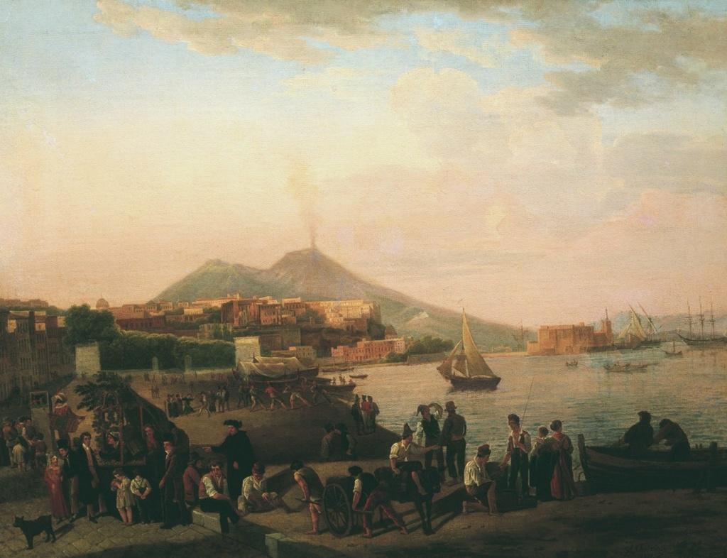"""Сильверст Щедрин (""""русский неаполитанец""""). Вид Неаполя. 1819. Цитируется П. П. Муратов, """"Образы Италии""""."""