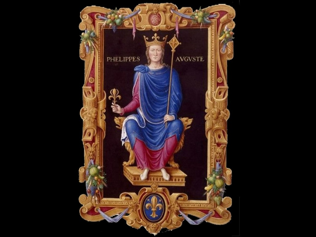 Филипп II Август — король Франции в 1180—1223 годах. Едва ли у кого-нибудь из династии Бурбонов собирательная тенденция выражалась так сознательно и проводилась столь последовательно.