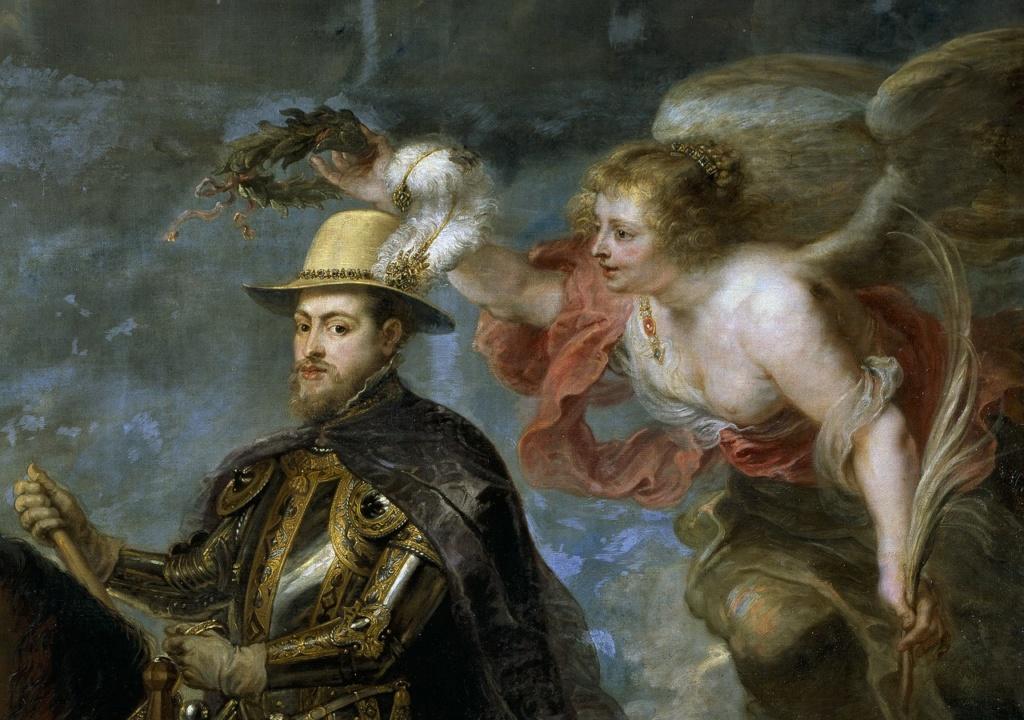 Питер Пауль Рубенс. Портрет короля Филлипа II (фрагмент). 1628 год. Прадо, Мадрид.