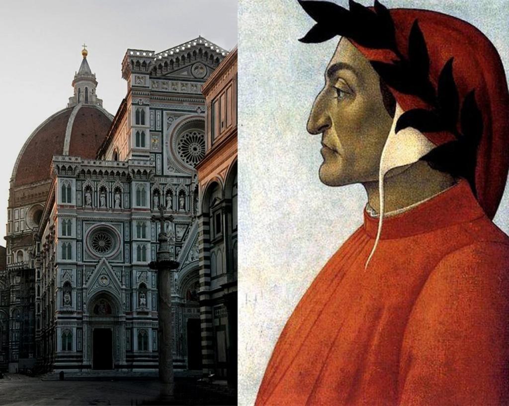 Флоренция. Собор Санта Мария дель Фьоре. Арх. Филиппо Брунеллески. 1420-1436. Сандро Боттичелли. Портрет Данте. 1495
