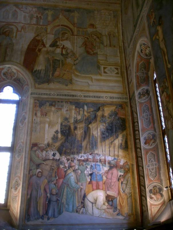"""XIV ВЕК. Падуя. Капелла Сан Джордже. Внизу - """"Усекновение главы святого Георгия"""" Альтикьеро да Дзевио. Около 1379 года. Готика, Предвозрождение."""