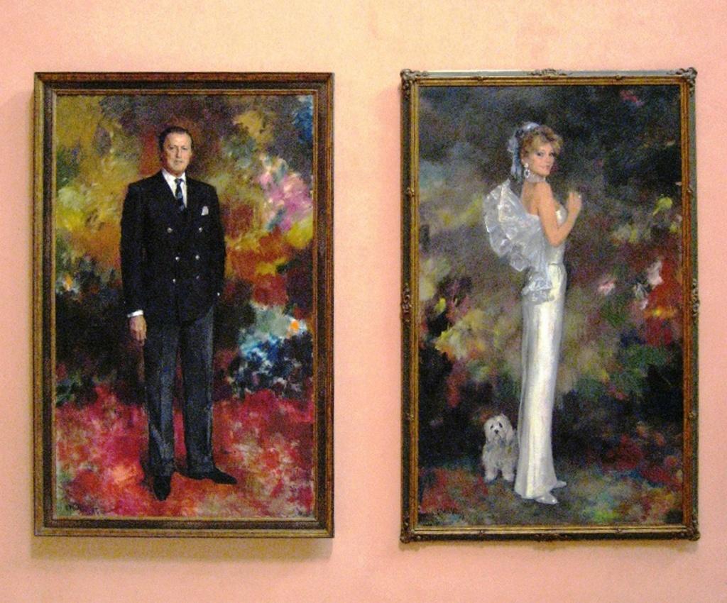 Портреты барона Ганса Тиссена-Борнемисы и его супруги Кармен.