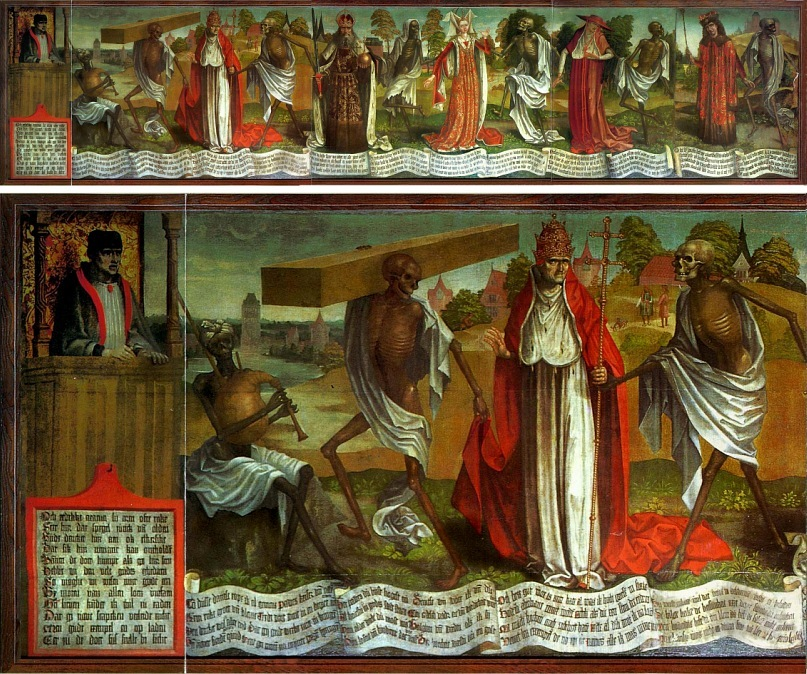 """Бернт Нотке. Любекская """"Пляска смерти"""".  Бернт Нотке (ок. 1435, Лассан — ок. 12 мая 1509, Любек) —  немецкий художник и скульптор."""