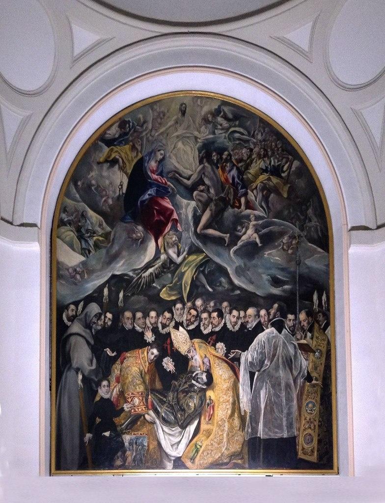 """Известность церкви Санто Тома принесла картина """"Погребение графа Оргаса"""" - одна из лучших работ Ель Греко, написанная им в 1584 году по заказу пастора церкви Андреса Нуньес де Толедо. Размер полотна 4.8 х 3.6 м."""