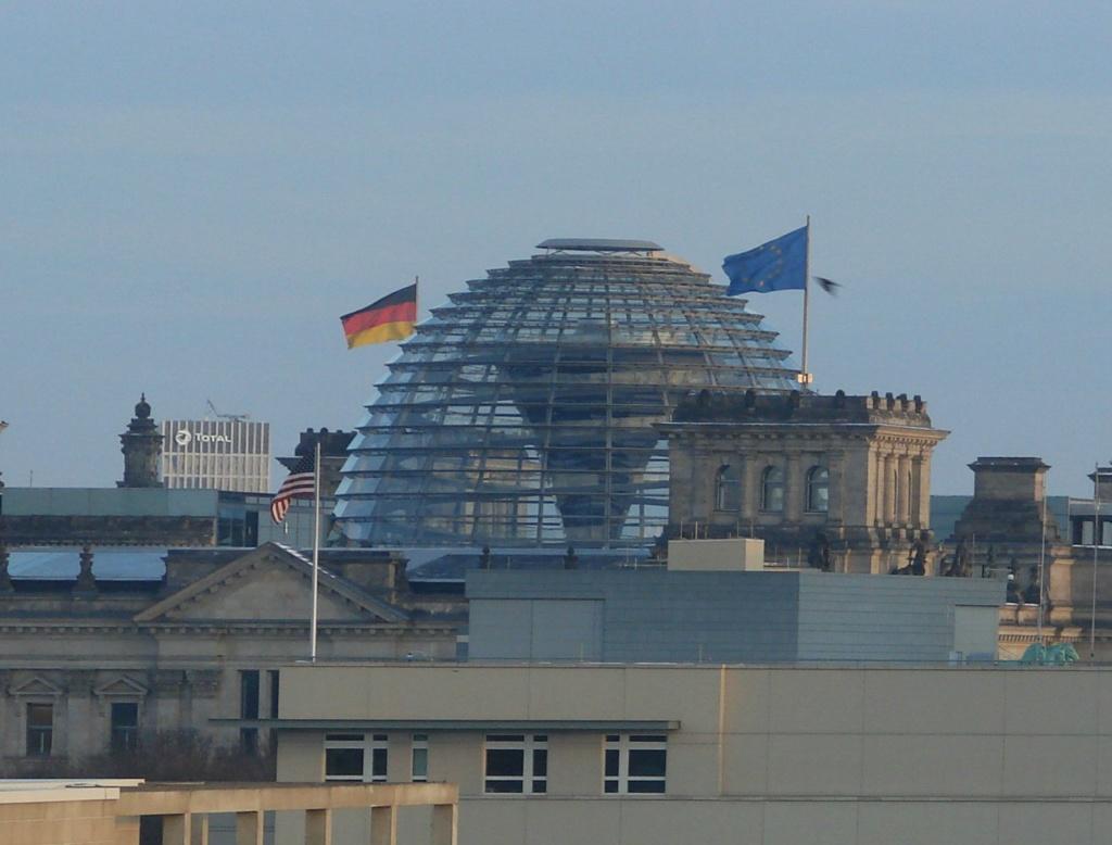 Вид из окна квартиры, в которой мы жили в Берлине.