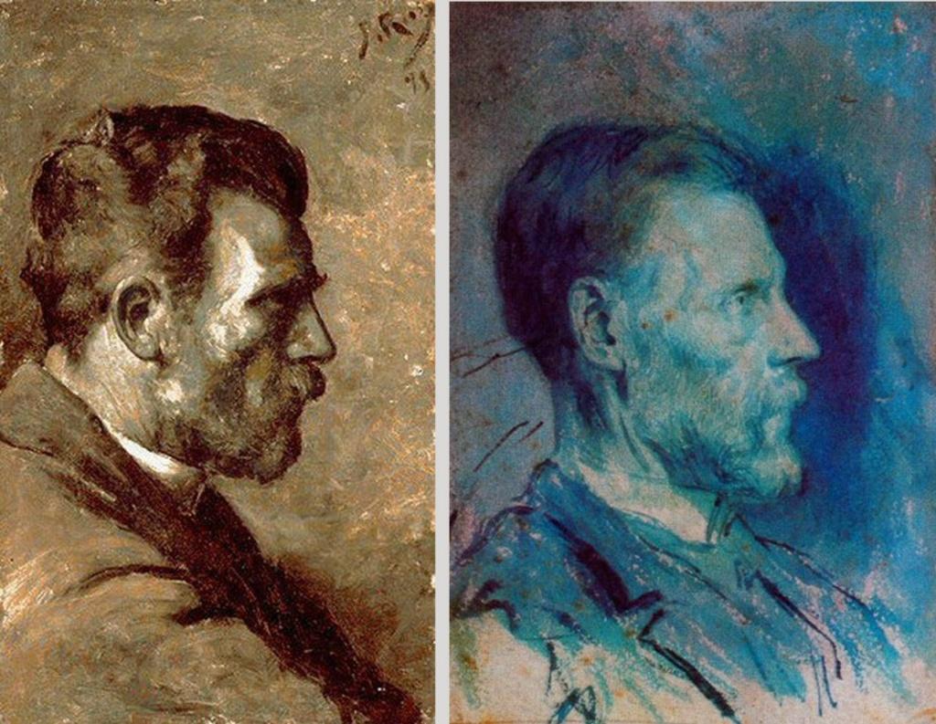 """Пабло Пикассо. """"Портрет отца художника"""". 1896. Пабло Пикассо. """"Портрет отца художника 2"""". 1896. Художнику 15 лет."""