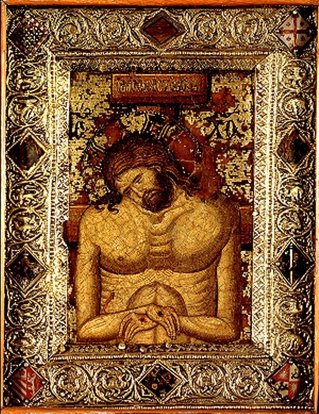 «Христос во гробе», мозаичная икона. Византия. Конец XIII - начало XIV. веков. Музей Метрополитен. Нью-Йорк