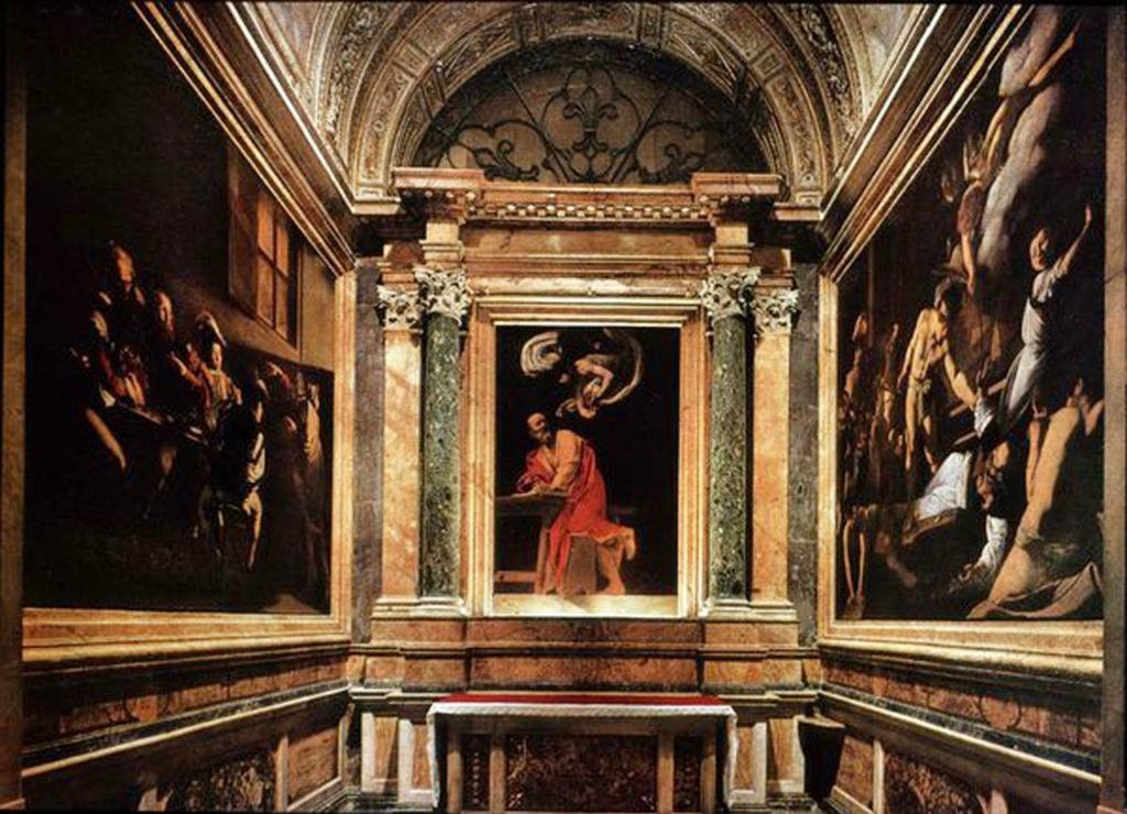 Для церкви Сан-Луиджи-деи-Франчези в Риме  Караваджо написал в 1599 - 1602 годы три картины:  «Призвание Матфея», «Вдохновение святого Матфея», «Мученичество святого Матфея».