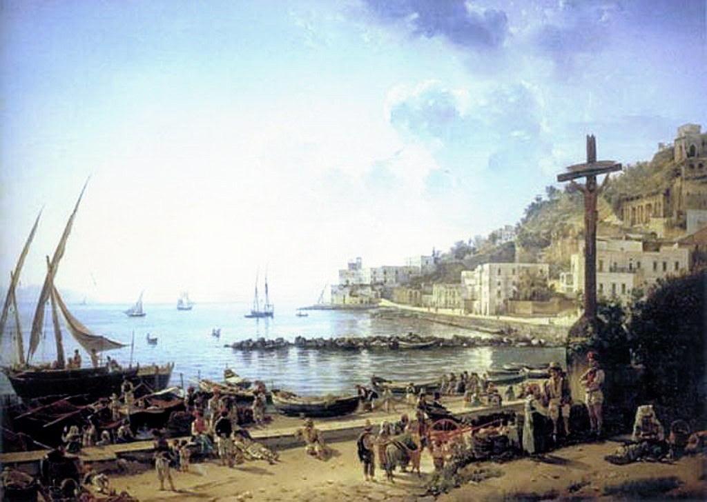 Сильверст Щедрин. Неаполитанская набережная. 1829.