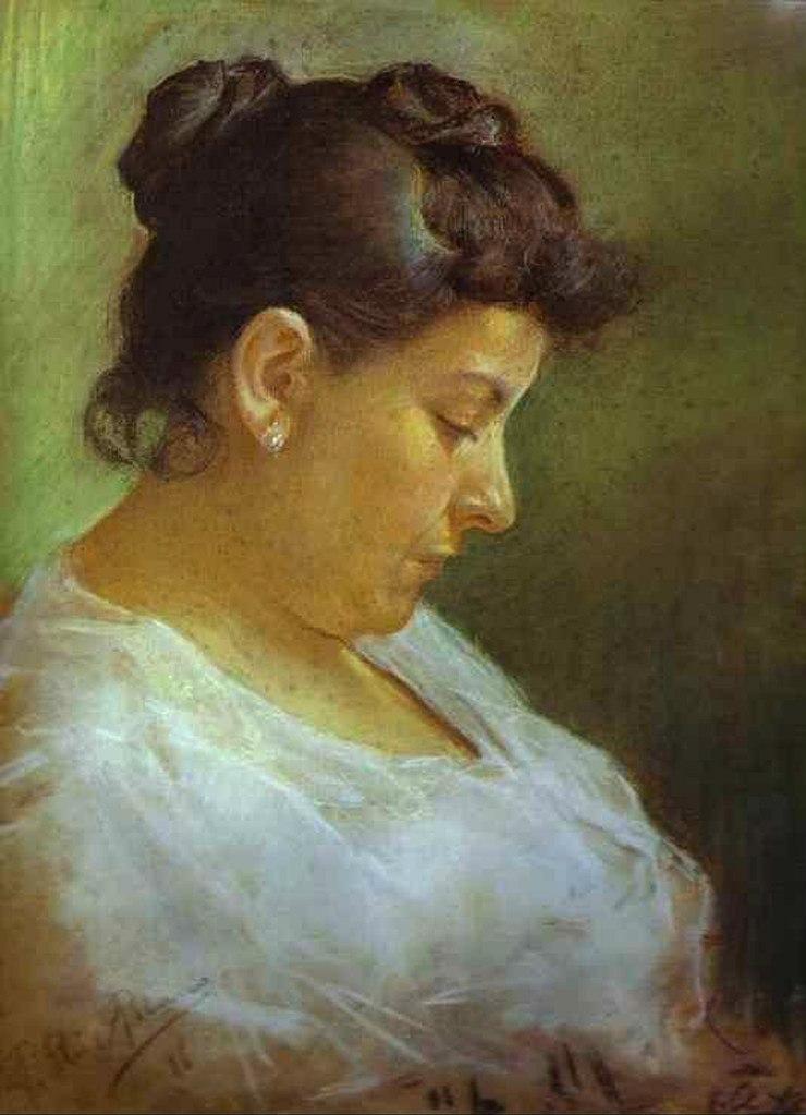 """Пабло Пикассо. """"Портрет матери художника"""".  1896. Художнику 15 лет."""