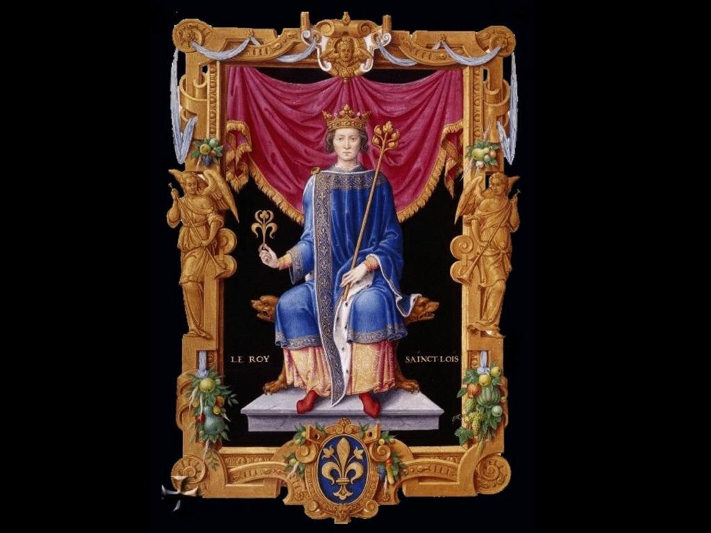 Людо́вик IX Свято́й — король Франции в 1226-1270 годах.  Руководитель 7-го и 8-го крестовых походов. Тот самый, что построил прекрасную Сен-Шапель.