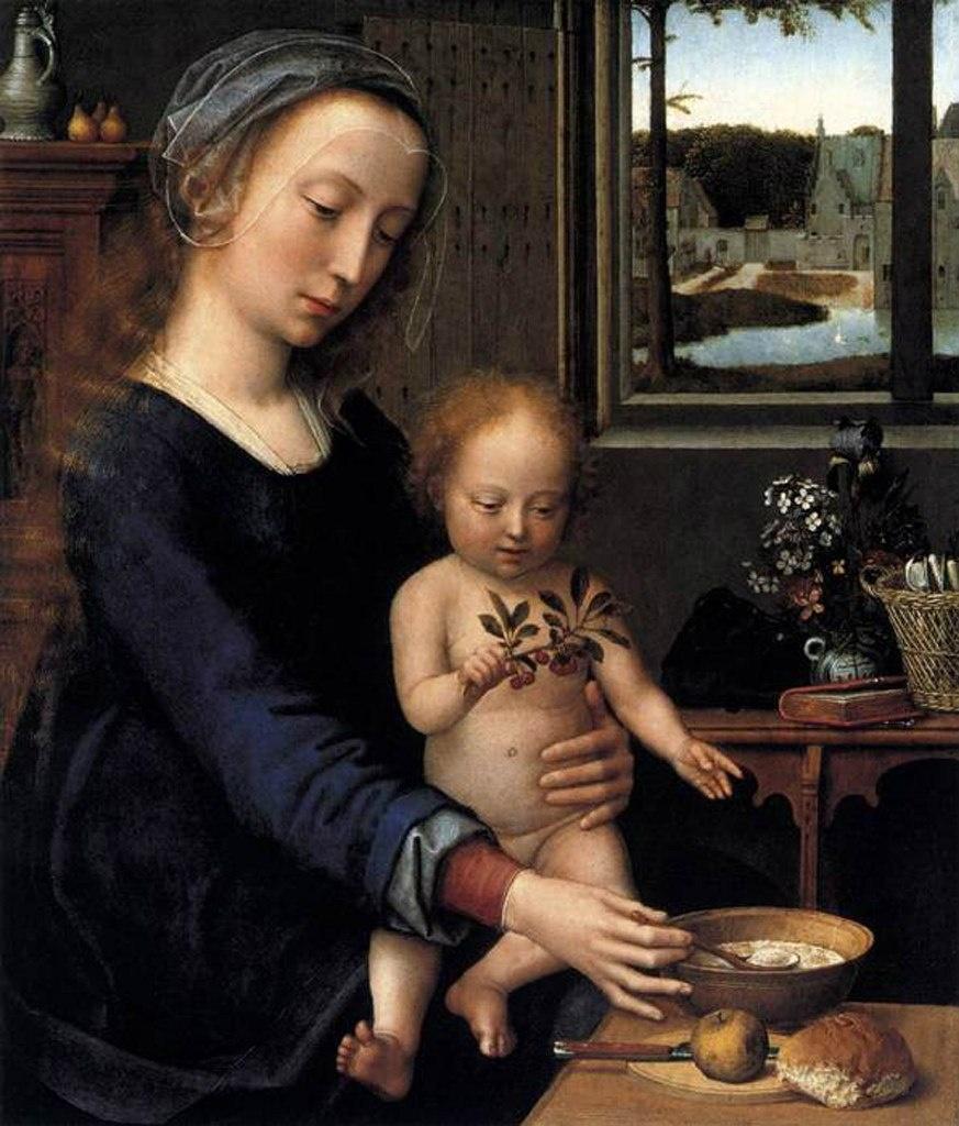 Хуана I Безумная - королева Кастилии - со своим сыном Карлосом - будущим императором Священной Римской империи..