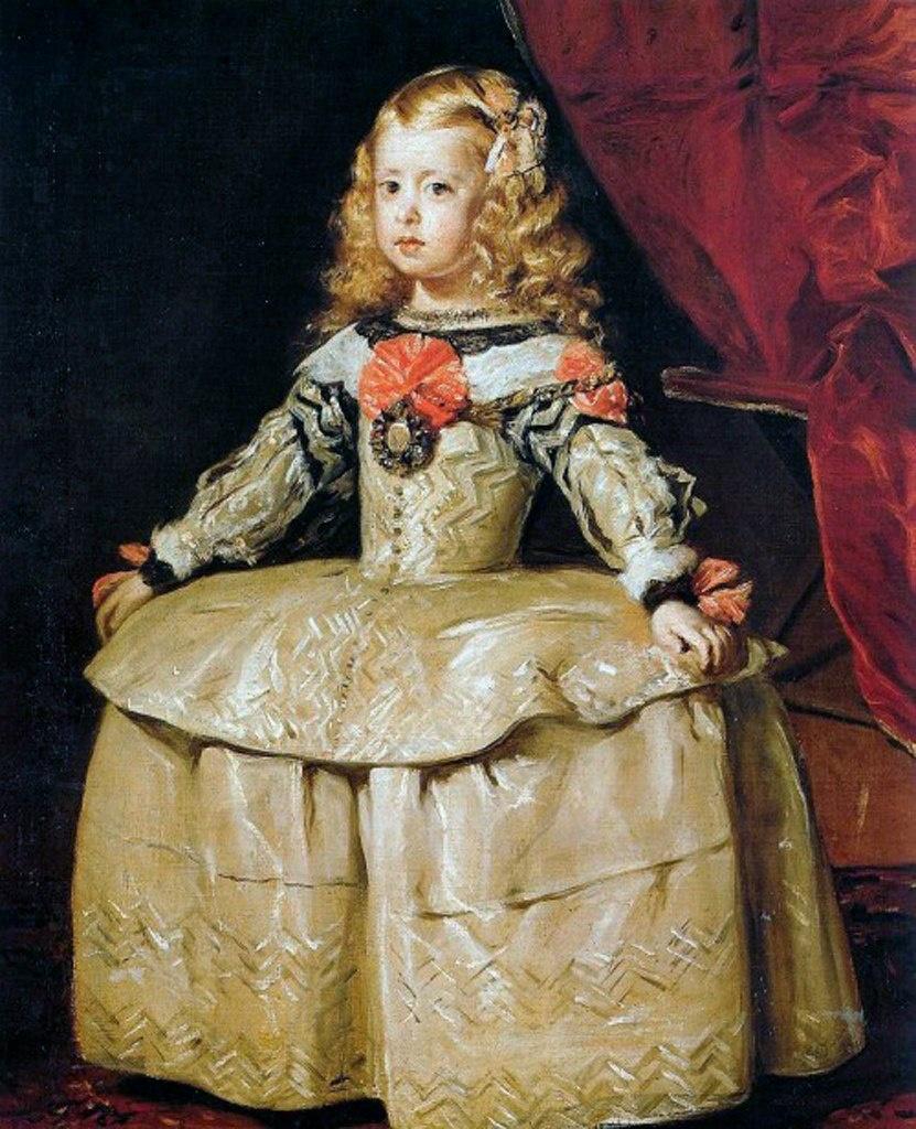 Диего Веласкес. Портрет инфанты Маргариты в белом. 1656. Худ.-ист. музей, Вена. Маргарите шесть лет...