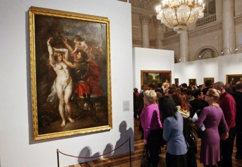 """Выставка """"Прадо в Эрмитаже"""". Питер Пауль Рубенс. """"Персей, освобождающий Андромеду"""". 1641-1642. Музей Прадо, Мадрид. В коллекции Прадо хранится более 70 полотен мастера и около 20 картин его мастерской."""