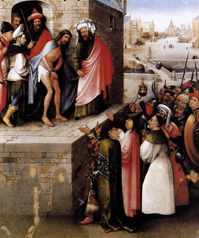 """Иероним Босх. """"Ecce Homo - се, Человек"""". 1485 год"""
