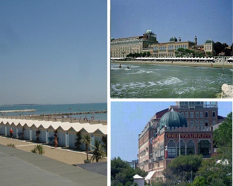 Остров Лидо славится роскошными отелями, парками и пляжами - то есть всем, что только можно пожелать на отдыхе. Если бы не СИРОККО - восточный ветер из Африки! Отели Excelsior и des Bains описаны в новелле Манна «Смерть в Венеции».