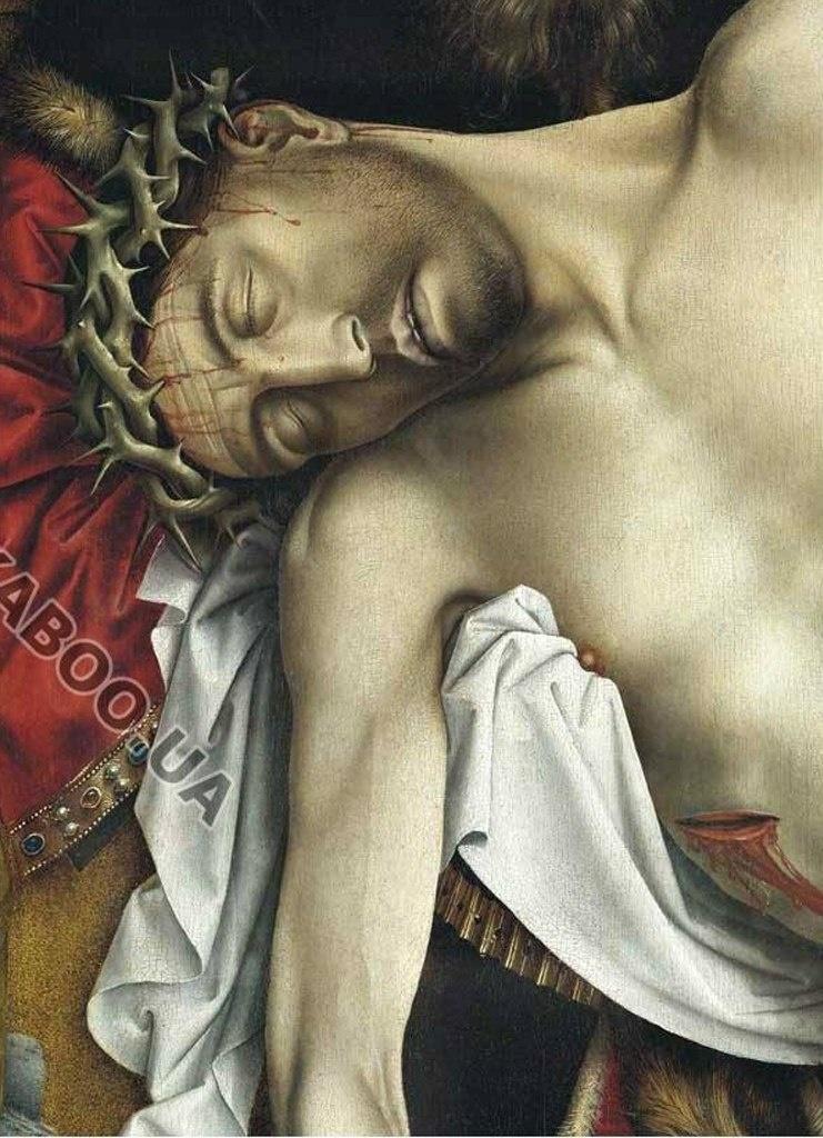 """Рогир ван дер Вейден. """"Снятие с креста"""". Ранее 1443, Музей Прадо.  Тема картины: ХРИСТОС УМЕР. Единственное, что осталось сделать преданным Ему людям, нять с Креста и положить во гроб."""