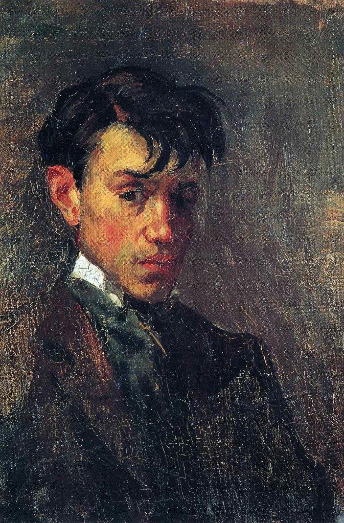 """Пабло Пикассо. """"Автопортрет"""". 1896 год. Пикассо здесь 15 лет."""