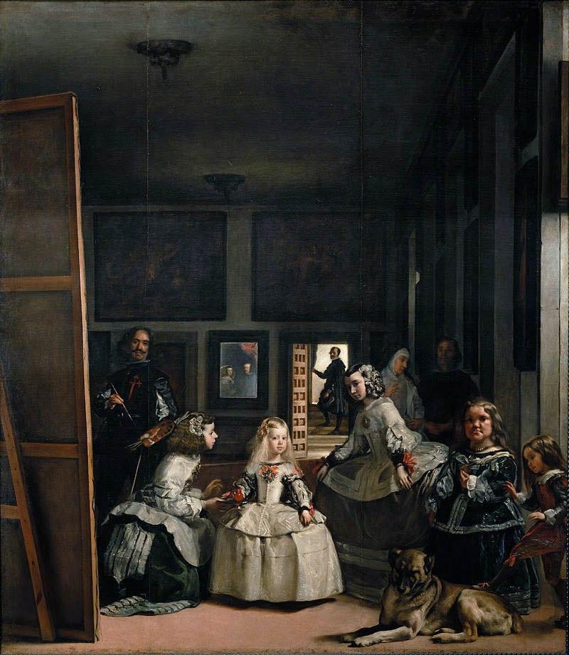 """Диего Веласкес. """"Менины"""" (Фрейлины) - самая знаменитая и прославленная картина художника. 1656 год. Шедевр Веласкеса находится в королевском Музее Прадо."""