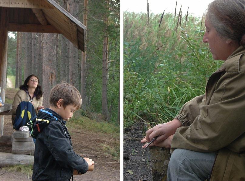 Вожаки первобытной стайки решили на общем совете научить своего малыша разжигать костер с одной спички...