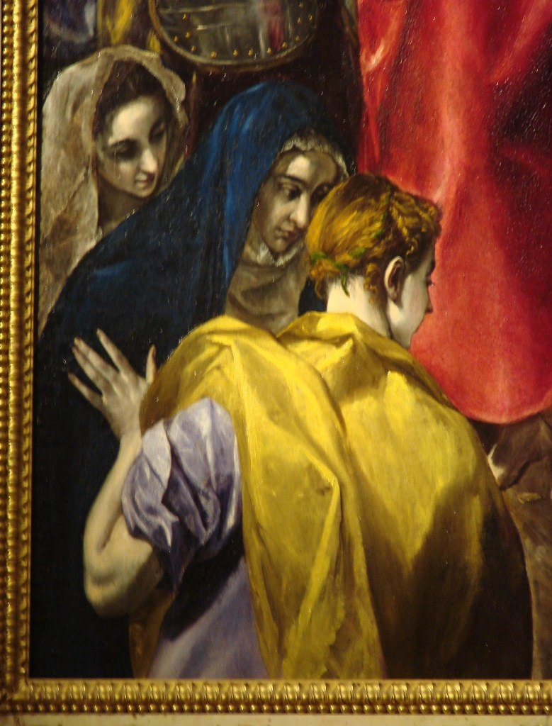 Толедский собор. Ризница. Эль Греко. «Эсполио» («Снятие одежд с Христа»). 1579 год. В левом нижнем углу изображены три Марии, находящиеся в растерянном, подавленном состоянии, вызванном непониманием происходящего