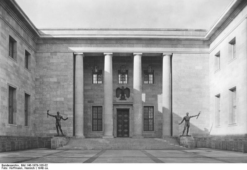 Берлин. Новое здание рейхсканцелярии. Architekt Prof. Albert Speer