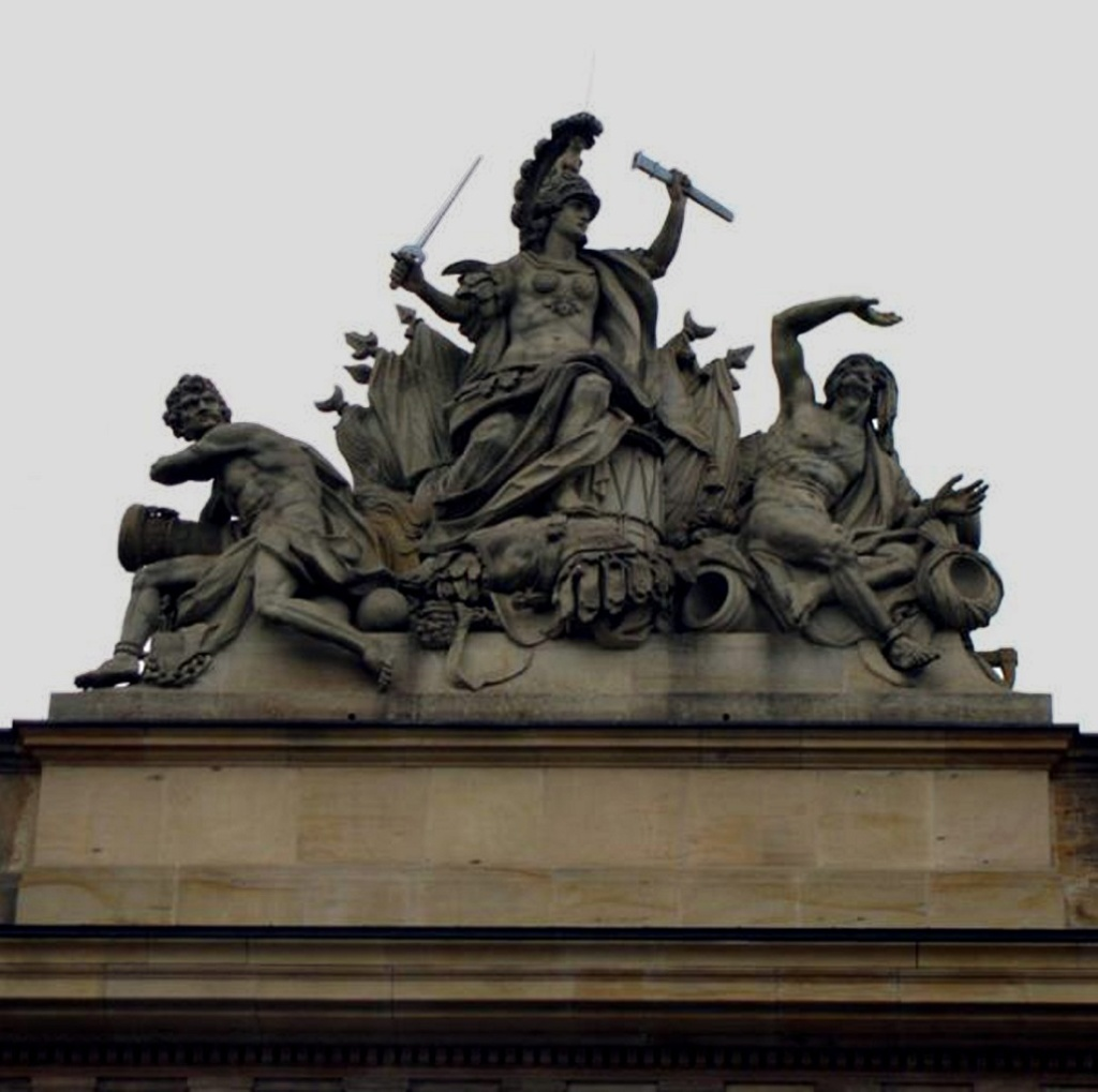 Берлин. Здание арсенала – Цейхгауза. Декоративная отделка - арх Шлютер. 1695 - 1706