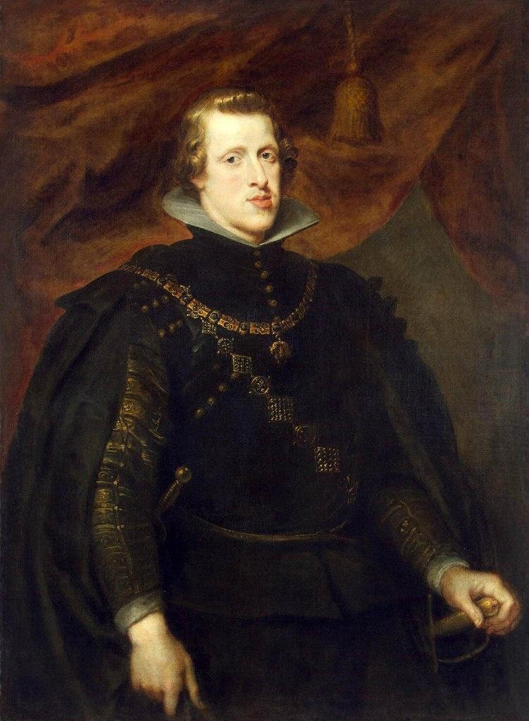 """Питер Пауль Рубенс. Портрет Филиппа IV в парадном костюме с орденской цепью """"Золотого руна"""". Молодому человеку свойственны вальяжность позы и благодушное выражение лица, что проистекают из сознания собственной силы. Он - Король."""