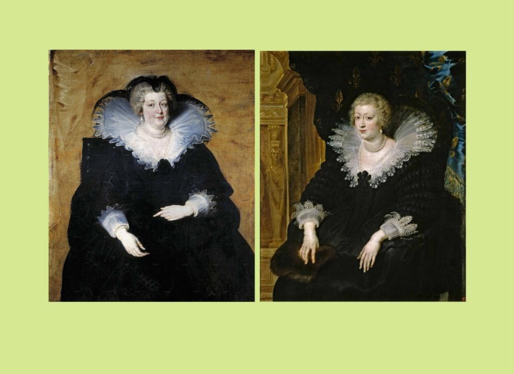Питер Пауль Рубенс. Портрет Марии Медичи, королевы Франции. 1622. Прадо, Мадрид. Питер Пауль Рубенс Портрет Анны Австрийской, королевы Франции. 1645. Прадо, Мадрид.