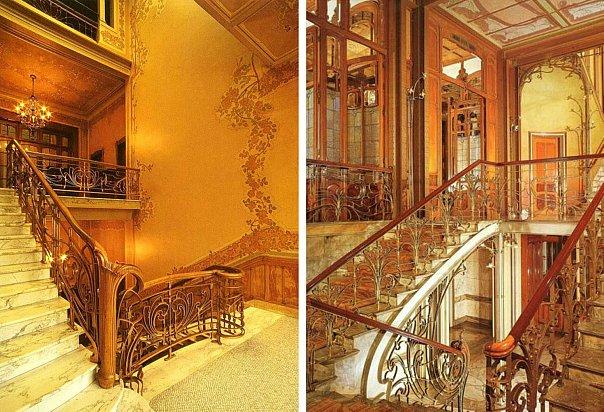Брюссель. Собственный дом архитектора, превращенный в Музей Виктора Орта.