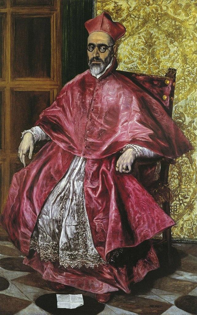 """Эль Греко. """"Портрет инквизитора Ниньо де Гевара"""". 1600 - 1601. Художник подчёркивает свойственную портретируемому беспощадную жестокость и настороженное недоверие к людям. Он создает образ государства, жизнью в котором распоряжается Инквизиция."""