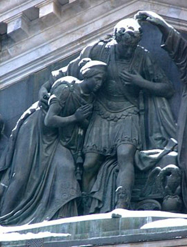 Исаакиевский собор. Арх. О. Монферран. 1818-1858. Фрагмент горельефа, установленного в тимпане западного портика. Ск.: И. П. Витали.